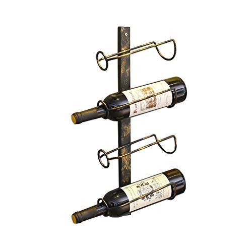 Hängender Vintage Weinregal-Wandständer für 4 Weinflaschen, freistehende Weinregal, stabil und haltbar, Bar und Wohnkultur, 25 × 12 × 50 cm