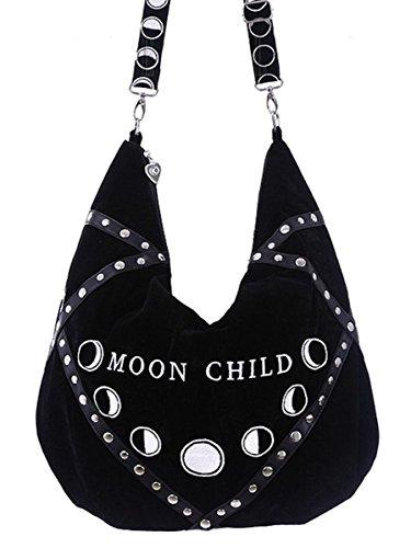 Dark Dreams Gothic Wicca Pagan Magie Tasche Umhängetasche Hobo Style Mond Restyle (Erwachsene Für Hobo Kostüm)