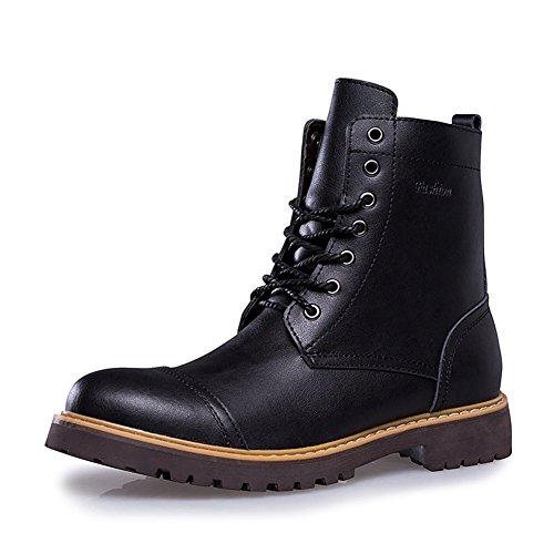 Hombres Martin Botas de Cuero Suave Invierno Zapatos Hombres Impermeable Trabajo Botas Casual Hombres Botines