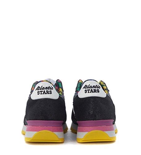 Sneaker Atlantic Stars Vega in lurex e tessuto nero Nero