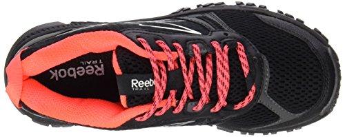 Reebok Ridgerider Trail, Chaussures de Running Femme Multicolore - Negro / Gris / Rojo (Black / Grvl / Neon Cherry / Shrk / Steel / Matte)