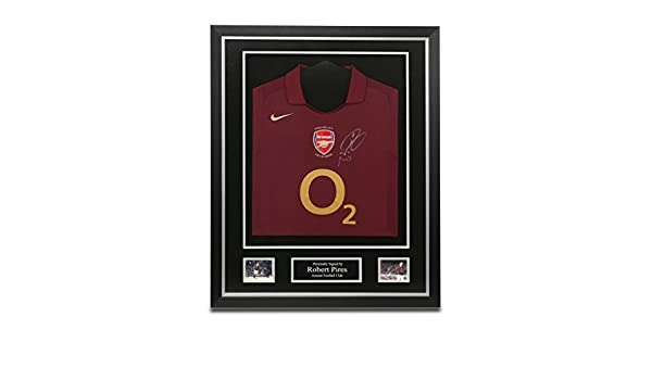 4fbd00da603 Robert Pires Signed Shirt Framed Arsenal 05 06 Jersey Autograph Memorabilia  COA  Amazon.co.uk  Sports   Outdoors