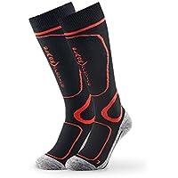Black Crevice Hombre 1 par Red Calcetines de esquí, Black/Red, ...