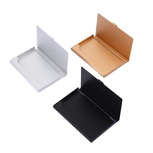 Especificación:  Tamaño: 9.3 x 5.7 x 0.7 cm. Material -- Acero Inoxidable. Color--Plata, Oro, Negro.         El paquete incluye:             1x Tarjeteros para Tarjetas de Visita en Plata  1x Tarjeteros para Tarjetas de Visita en Oro 1x Tarjeteros...