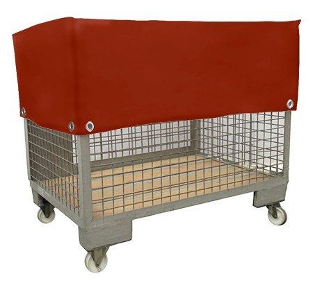 Cloche pour Euro Grille Boîtes en métal | Capot de protection en bâche de camion - | PVC - Toile polyester enduite | sans fermeture Éclair | très fins Pour Industrie Convient