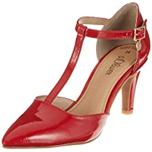 s.Oliver 5-5-24405-22 502, Women's T-Bar T-Bar Pumps, Red (Red Patent 502), 6 UK (39 EU)