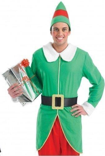 Herren Weihnachtselfe Santa's Helfer Party KostüM Outfit M, L & XL - Grün, (Erwachsene Helfer Grüne Santa's Kostüme Weihnachten)
