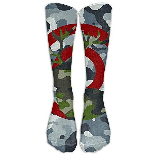 Personalized Cool Athletic High Socks Stockings Camo Archery Deer Hunting Bullseye Fashion Novelty Sports Crew Tube Knee Sock Stocking 60cm -