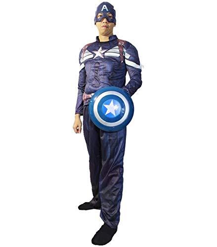Halloween COS Erwachsene Kinder Muskel US Kapitän Kleidung Schild Partei Kleidung Kleidung XL (empfohlene Höhe 165-180 ()