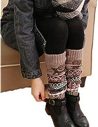 Acecoree Femmes Chaussettes de Tube Chaud Leg Protecteur pour Botte Neige  Chaussettes En Laine Guêtres 774432192c6