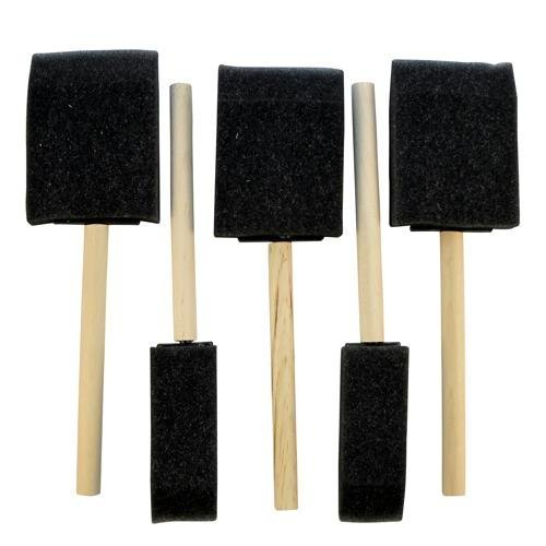 pack-of-5-assorted-size-foam-crafting-brushes