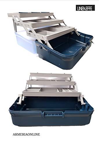 Cassetta valigetta da pesca porta attrezzi attrezzatura accessori minuteria ami
