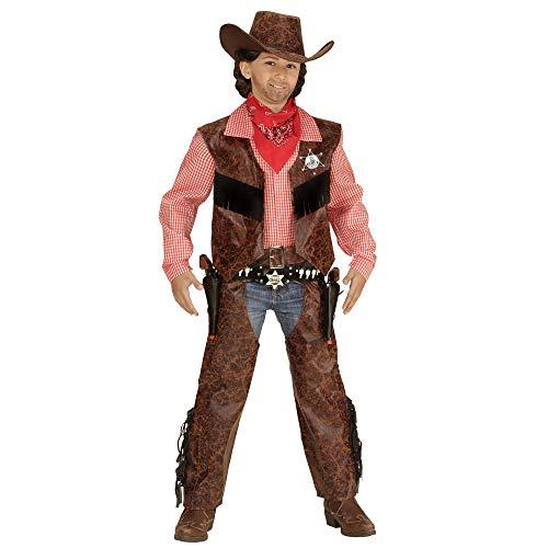 Widmann 05926 Kinderkostüm Cowboy, Shirt mit Weste, Chaps und Hut (Kinder Cowboy Kostüme)