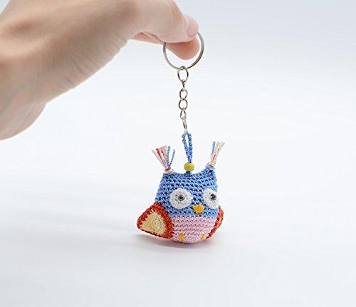 Kleine Eule Weihnachtsdekoration, einzigartige Urlaub Spielzeug, blau hell Schlüsselbund