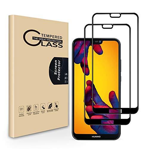Seinal Panzerglas Schutzfolie für Huawei P20 lite [2 Stück] 3D Full Screen Panzerglasfolie,Displayschutzfolie,Tempered Glass,3D Touch Hartglas,Screen Protector Glass,Handy Folie für P20 lite(Schwarz) -