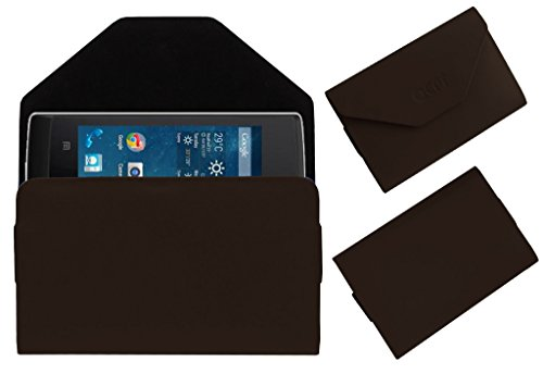 Acm Premium Pouch Case For Panasonic T9 Flip Flap Cover Holder Brown  available at amazon for Rs.179