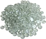 1Kg Decorative Round Clear Mixed Size Glass Pebbles/Nuggets..12-20mm