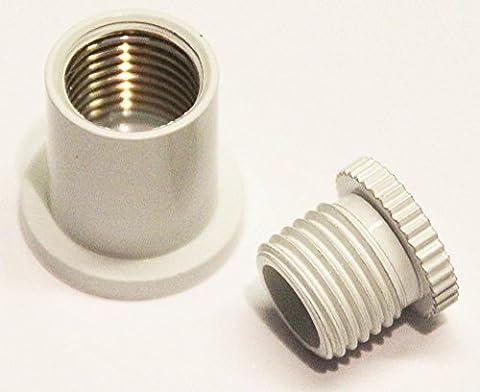 Seilabhänger Seilabhängung Deckenbefestigung für Stahlseil Deckenhalter Halter weiß (Mb Draht)