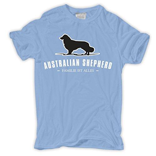 Männer und Herren T-Shirt Australian Shepherd - Familie ist Alles (T-shirt Dog Shepherd Australian)