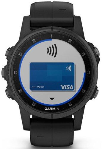 Garmin Reloj Fenix 5S Plus SmartWatch Negro Music 42mm Sapphire 010–01987–03