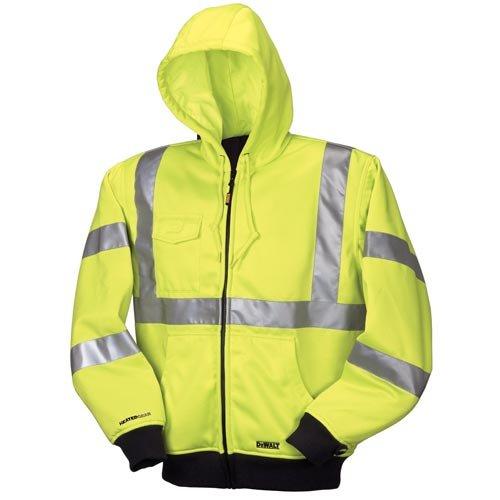 DEWALT DCHJ071B-L 20V/12V MAX Bare High-Vis Hooded Heated Jacket, High-Vis, Large by DEWALT - Dewalt Bare-tool