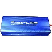 Spark 2000W onda sinusoidal modificada inversor de corriente 12V 4000W pico con cargador de batería UPS