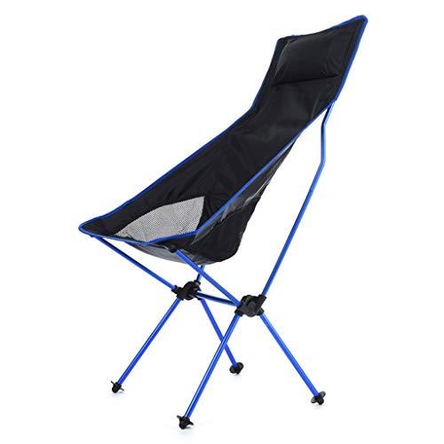 ZDY1201 Fischen-Stuhl-Klubsessel-Lange Kissen-Erwachsener Klappstuhl im Freien (Color : B) - Hohe Zurück Stuhl Im Freien Kissen