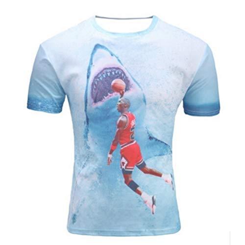 NSDX Herren 3D T-Shirt Mailand Italien Italien Fußball Calcio Futbol 3D T-Shirt Unterhemd Mailand Serie A Italien Interessante Kurzarm Fashion Summer -