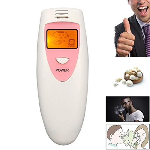 TH1 Mundgeruchsprüfer, Selbstgeruchsdetektor-Cartoon-Display Geruchsprüfer Mundhöhlenhygiene-Zustandsanalysator Erfolgreiche Datierung Tragbare Geräte,Rosa