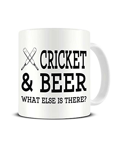 Cricket and Beer What Else is There? - Beer & Sport Humour - Ceramic Coffee Mug - Tea Mug - Great Gift Idea Funky NE Ltd®