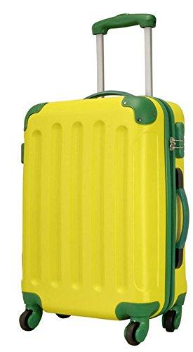 Ibiza jaune vert taille M Carbone/ABS rigide Valise à roulettes en polycarbonate Case FA. Valise bowatex