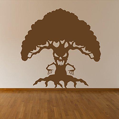 aufkleber Halloween Wandtattoo Scary Kinder Wohnkultur verfügbar in 5 Größen und 25 Farben X-Groß Weiß (Scary Halloween-bäume)
