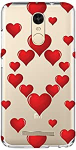 URBAN KOLOURS Original Designer Printed Clear Case Back Cover for Xiaomi Redmi Note 3 (Hearted Hearts-Clear)