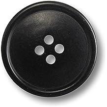 0117 Knopf Knöpfe 25mm 4 loch schwarz 4 Stück