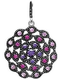 Collar Regleta con piedras brillantes y plata, colección rhodie Reverence