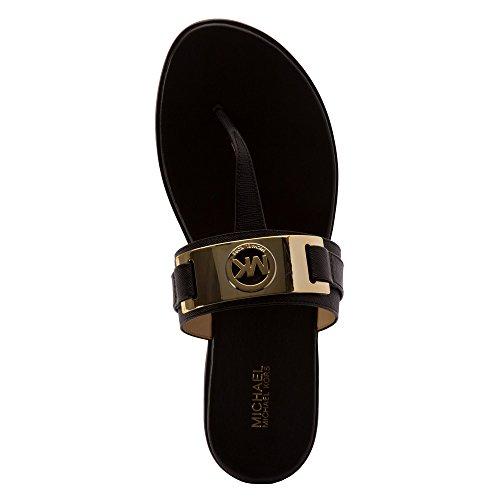 Michael Kors Michael Warren Thong bout ouvert en cuir Thong Sandal Black