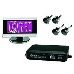 JOM 7118 Sistema di Chiusura Centrale Universale, Wireless, con 4 Sensori e Monitor LCD Sottile, Sistema Acustico, Set di 6