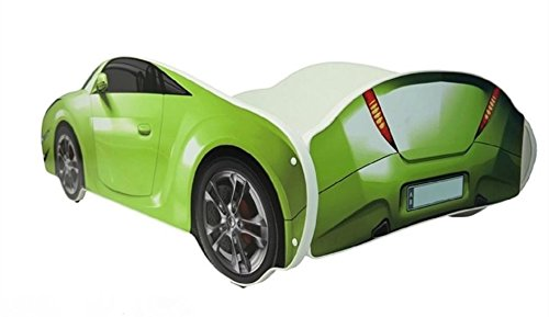 hogartrend Toddler Beds Car green hogartrend Children's Bed 140x 70in the form of a car with foam mattress 5