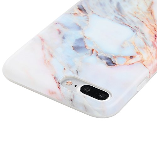 "iPhone 7 Plus Hülle Case YOKIRIN Silikonhülle für iPhone 7 Plus (5.5"") Premium Marmor TPU Silikon Case Cover Handyhülle Handytasche Etui Handycase Flexible Transparent Rahmen Rutschfest Kratzfest Schu Jade"