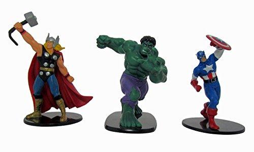 Marvel Heroes - Marvel Avengers als 3-er Set - folgende Figuren: Thor, Hulk und Captain America - Größe der Figuren: 10 cm - Pack Deluxe