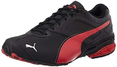 Puma Men's Tazon6DP Black, High Risk Red and Puma Silver Running Shoes - 6 UK/India (39 EU)