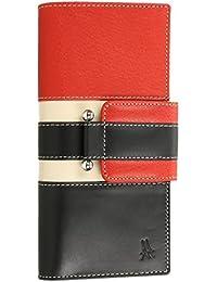Anther Turkia610R Billetero Monedero Mujer Piel color Negro/Rojo 18,5 X 9,5 cm