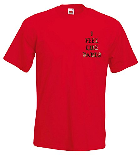 TRVPPY Herren T-Shirt THIS IS A GOD DREAM / Camouflage Aufdruck / in vielen versch. Farben / mit Rücken -und Brustaufdruck / Gr. S-5XL Camo-Rot
