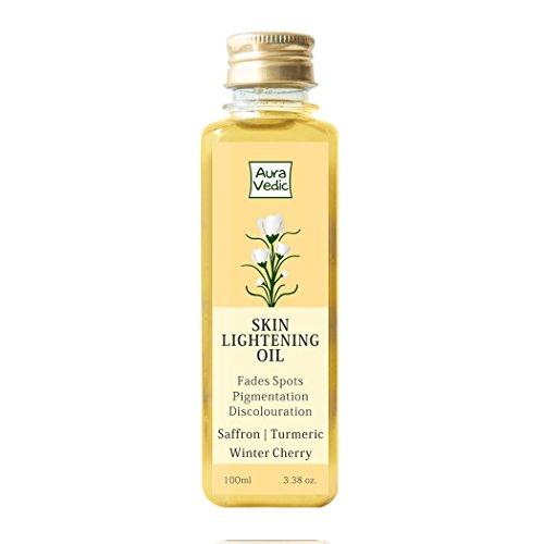 Auravedic Skin Lightening Oil with Saffron, Turmeric and Winter Cherry, 100ml