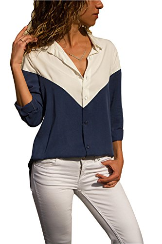 Happy Sailed Womens Long Sleeve Button Down Shirts