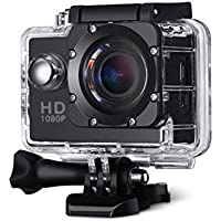 Teconica NXE_01 Sports Action Camera with Ultra Hd Waterproof | 170 Degree Wide Angle | 2 inch LCD Screen | SD Card Slot | 32GB Expendable Memory | Multi-Language Supported (Assorted Colour)