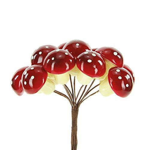 Alice's decorations bomboniere fai da te funghetti artificiali con gambo confezione da 72 pezzi