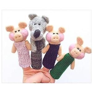 Drei kleine Schweine Fingerpuppen