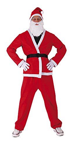 Kostüm für Erwachsene Weihnachtsmann Classic Einheitsgröße Rubies (Rubies Weihnachtsmann Kostüm)