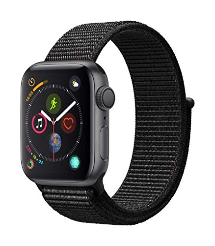 Apple Watch Series 4 (GPS) con caja de 40 mm de aluminio en gris espacial y correa Loop deportiva - Negra